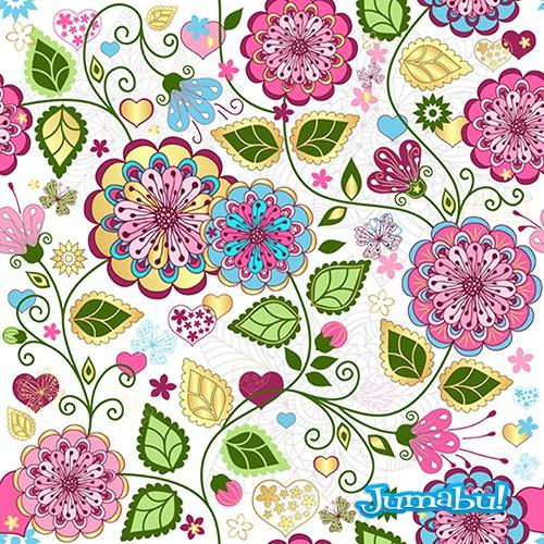 Diseños de Fondos Florales en Vectores | Muchos Recursos Diseño ...