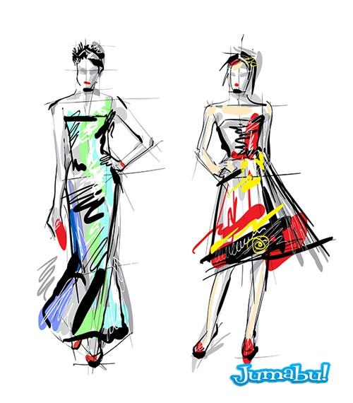 dibujos ilustraciones dise o de moda en vectores muchos