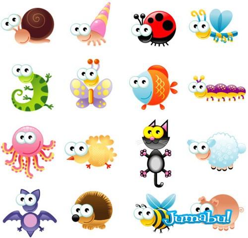 Graciosos Animales en Vectores | Muchos Recursos Diseño Gráfico!