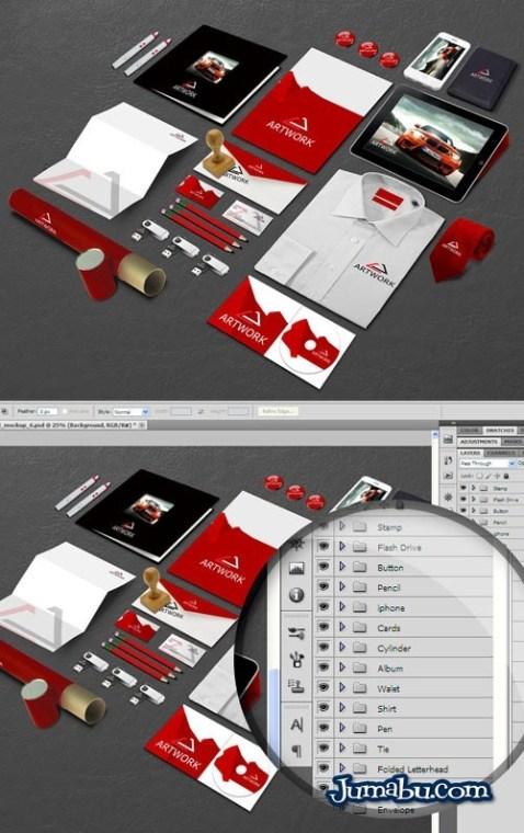 Mock up para colocar tu logo en elementos de oficina for Elementos para oficina